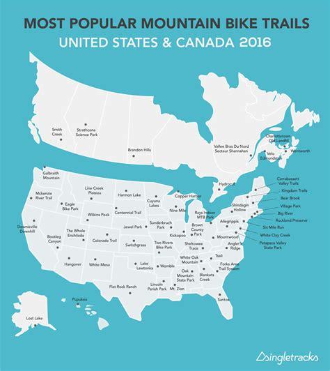 Most Popular Mountain Bike Trails in the US and Canada