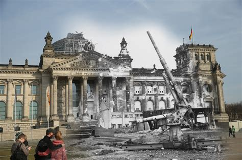 WWII photos blended seamlessly into modern-day Berlin