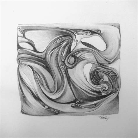 abstract landscape pencil drawings - Google Search