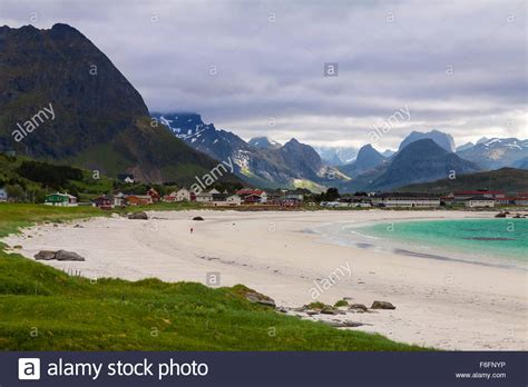 Camping Lofoten Islands Stockfotos & Camping Lofoten