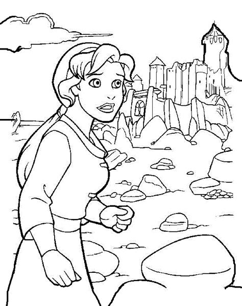 The Magic Sword: Quest for Camelot Printable Coloring Pages 3