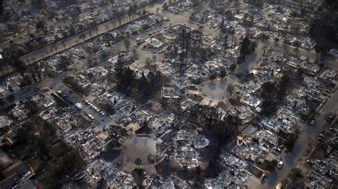 Drone footage shows a city in ruins as California fires