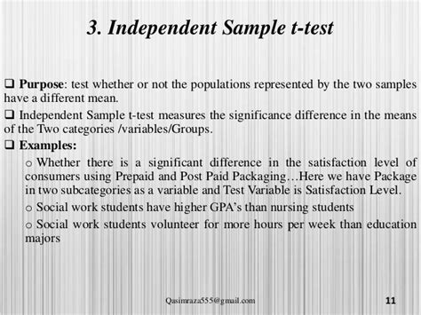 when to use independent samples t test