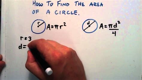 How to Find the Area of a Circle, Given a Radius or a