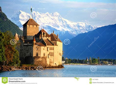 The Chillon Castle In Montreux, Switzerland Stock Image