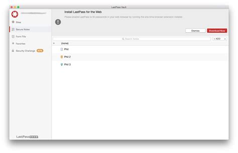 LastPass Released for OS X – Free Download