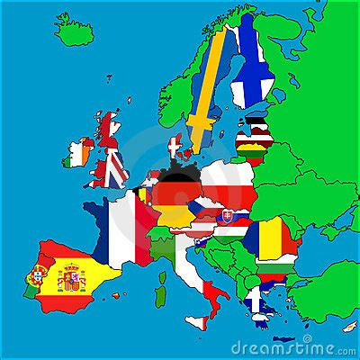 Map Of EU Member Countries Royalty Free Stock Photo