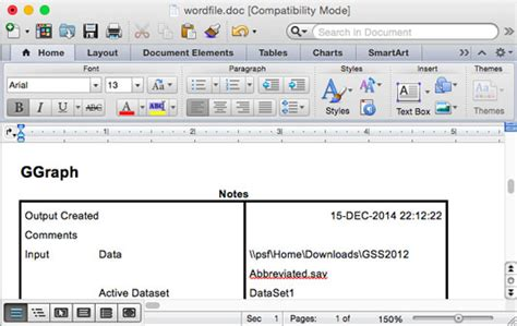 How to Create a Word Document File from SPSS Data - dummies