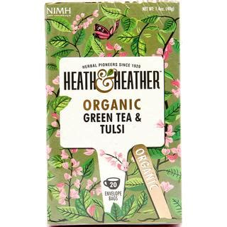 Heath & Heather Organic Green Tea & Tulsi 20 tepåsar • Se