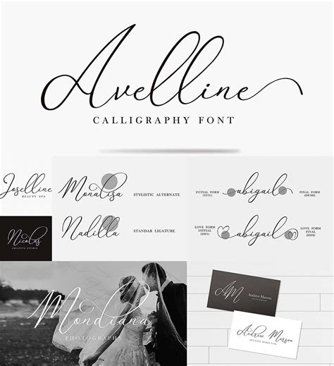 Avelline modern calligraphy   Free download