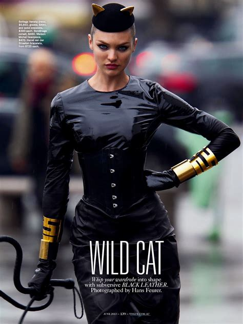 wild cat: candice swanepoel by hans feurer for vogue