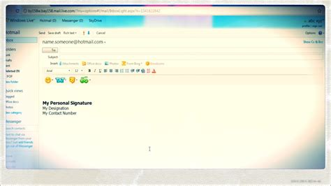 How to Create an Email Signature in Hotmail - YouTube