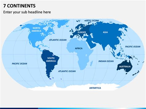 Seven Continents Map PowerPoint | SketchBubble