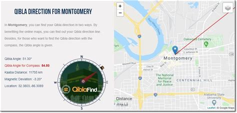 Easily find your Qibla direction in Montgomery