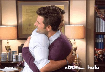 Parks And Recreation Hug GIF by HULU - Find & Share on GIPHY