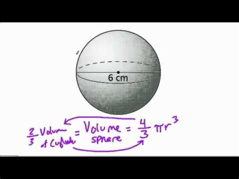 Volume of a Sphere Given Diameter - YouTube