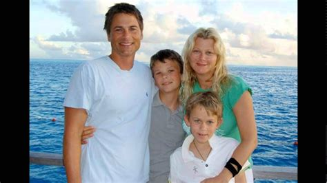 Rob Lowe and his wife Sheryl Berkoff and their children