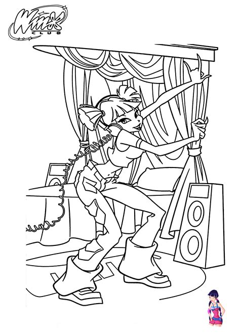 Musa Winx club coloring pages for girls, printable free 05