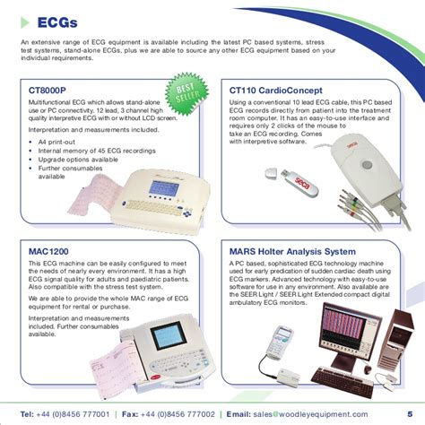 Woodley Clinical Trials Equipment Brochure 2011