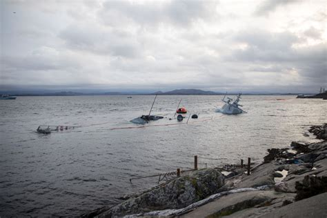 Norwegian Frigate Sinks Further After Collision with