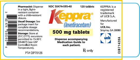 Keppra - FDA prescribing information, side effects and uses