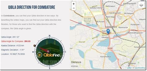 Qibla Finder for Coimbatore in 2020 | Find my location