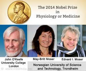 Nobel Prize 2014 for Medicine Goes to Trio for Discovering