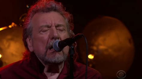 Robert Plant performs rendition of 'New World' on James