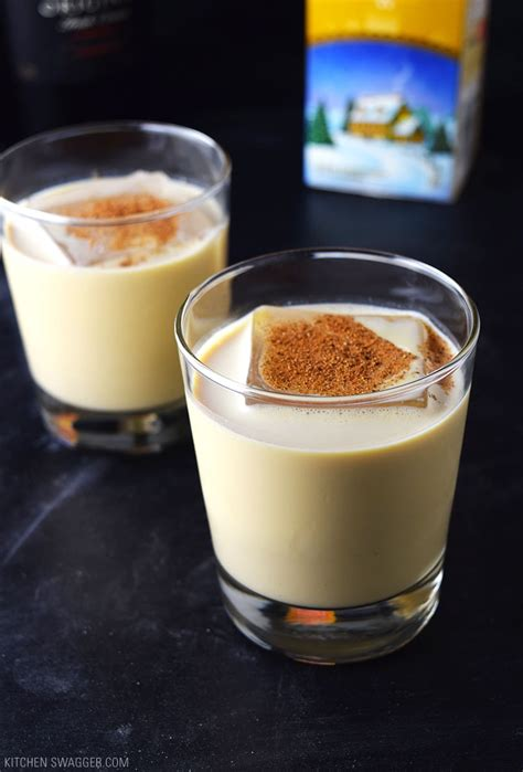 Eggnog Holiday Cocktail Recipe | Kitchen Swagger