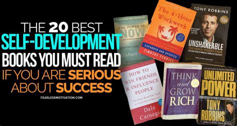 20 Recommended Self Development Books by Fearless Motivation