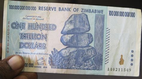 Zimbabwe's 100-Trillion-Dollar Note Gains in Value