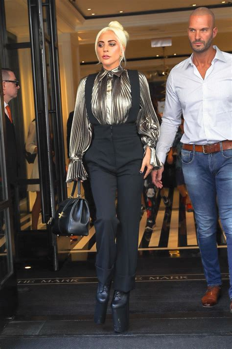 Lady Gaga Wears Extreme Platform Shoes Strutting Out of