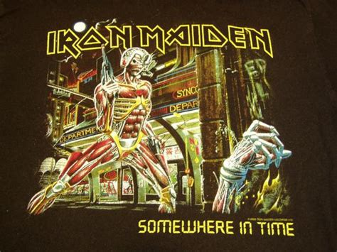 Iron Maiden 'Somewhere on Tour' T-Shirt 1986/87 Dead