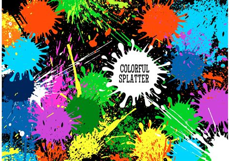 Free Vector Colorful Splatter Background - Download Free