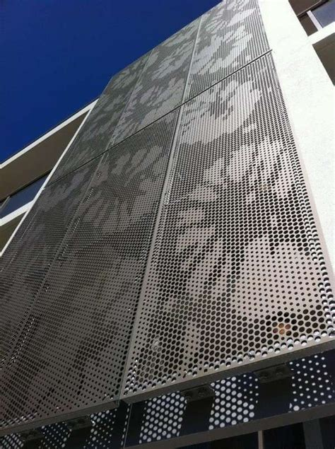 perforated metal panels modern exterior design ideas