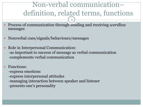 PPT - Paralinguistic and Nonverbal elements of