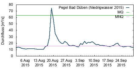 Pegel Bad Düben, Mulde