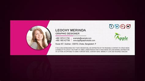How To Create a Professional Email Signature - Photoshop