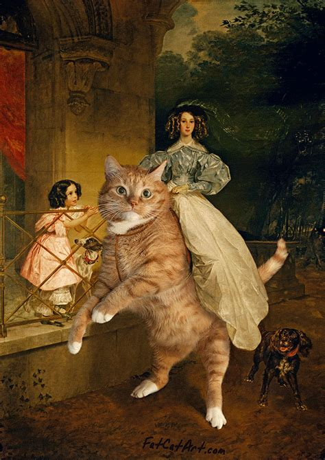Fat Cat Art: I Insert My Ginger Cat Into Famous Paintings